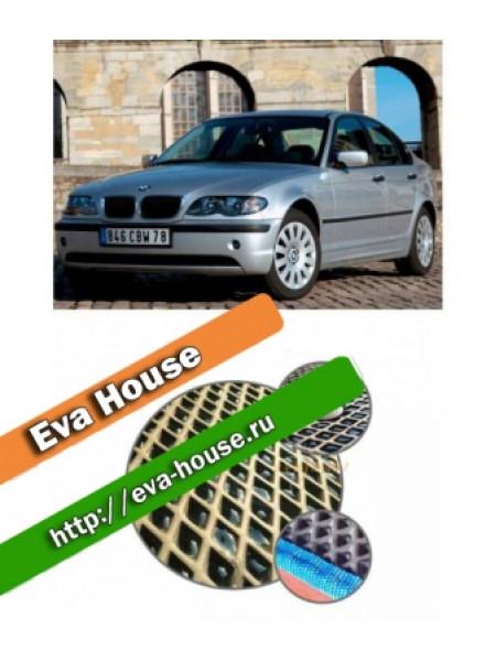 Автоковрики для BMW 3 серии (E46, 1998-2006) правый руль