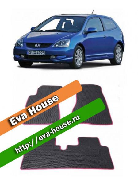 Автоковрики для Honda Civic VII хэтчбэк трехдверный (2000-2005)