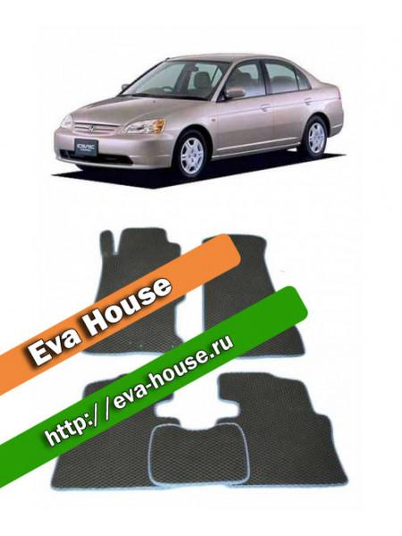 Автоковрики для Honda Civic Ferio III правый руль (2000-2005)