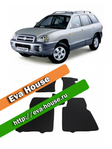 Автоковрики для Hyundai Santa Fe I Classic (2000-2012)