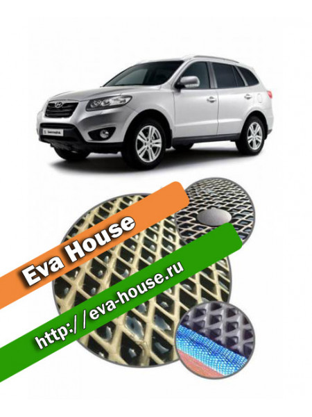 Автоковрики для Hyundai Santa Fe II 5 мест (2006-2010)
