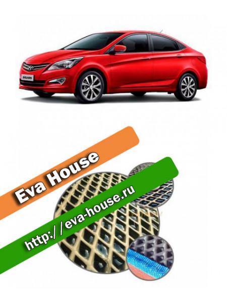 Автоковрики для Hyundai Solaris (2014-н.в.)